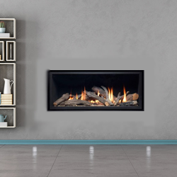 Apex Fires Cirrus X1 HE Trimless Hole in the Wall Gas Fire