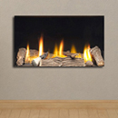 Apex Fires Cirrus X2 HE Trimless Glass Fronted Gas Fire HE Hole in the Wall Gas Fire