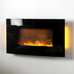 Apex Fires Havana Curve Hang on the Wall Electric Fire