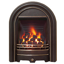 Bemodern Abbey Black Highlighted Gas Fire