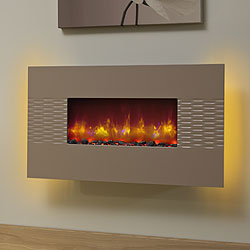 Bemodern Orlando Cappuccino Hang on the Wall Electric Fire