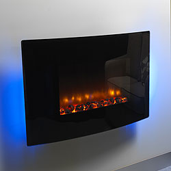 Bemodern Orlando Curved Hang on the Wall Electric Fire