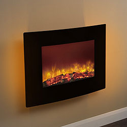 Bemodern Quattro Curved Hang on the Wall electric fire