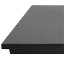 Honed Matt Black Granite Hearth (GAS) HEF424