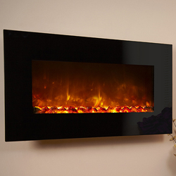 Celsi Electriflame XD Black Glass Electric Fire