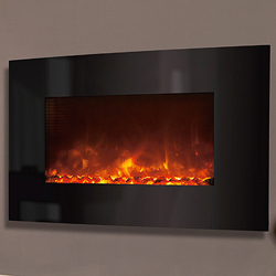Celsi Electriflame XD Curved Black Glass Electric Fire