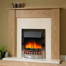 Delta Heswall Electric Fireplace Suite 2Kw Heat Output, Oak Effect Fireplace