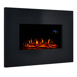 Eko Fires 1110 Black Metal Hang on the Wall Electric Fire