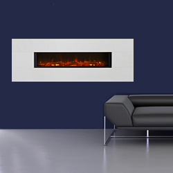 Eko Fires 1190 Limestone Wall Hung Electric Fire