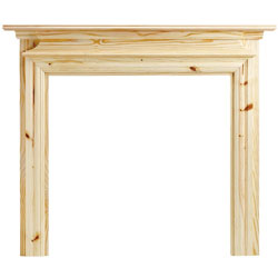 Eko Fires 7070 Dawlish 51 Unfinished Pine Wooden Fireplace Surround