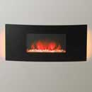 Apex Mirage Curved Widescreen Deluxe Hang on the Wall Electric Fire