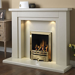 Pureglow Hanley 54 Slimline Gas Marble Fireplace Suite