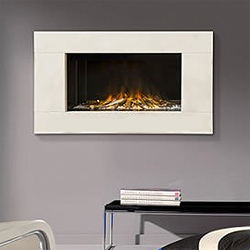Europa Fires Calvi White Mist Electric Fire