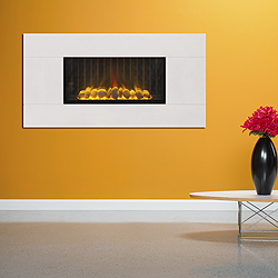 Europa Fires Loko Wide White Mist Wall Mounted Electric Fire