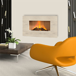 Europa Fireplaces Luna Calico Wall Mounted Electric Fire