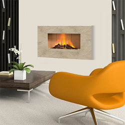 Europa Fires Luna Seashell Wall Mounted Electric Fire