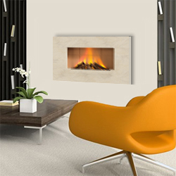 Europa Fires Luna White Mist Wall Mounted Electric Fire