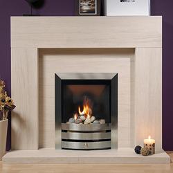 Europa Westerby 47 Limestone Fireplace