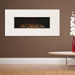 Europa Fires Zeno White Mist Wall Mounted Electric Fire