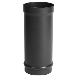 Fire Depot Black 4 Inch Stove Pipe 500mm Length