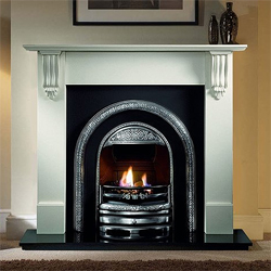Gallery Bolton Cast Iron Arch Solid Fuel Package