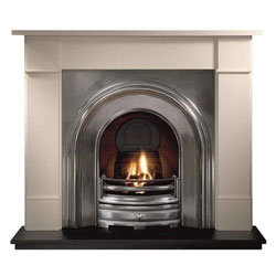 Gallery Crown Full Polish Cast Iron Arch Solid Fuel Package
