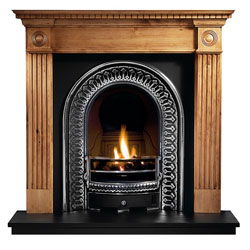 Gallery Regal Cast Iron Arch Wooden Solid Fuel Package