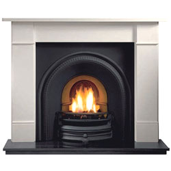 Gallery Tradition Cast Iron Arch Solid Fuel Package