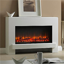 Garland Fires Navassa Electric Fireplace Suite Floor Mounted White Electric Suite