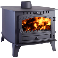 Hunter Stoves Herald 14 Double Sided DD Multi Fuel Wood Burning Stove