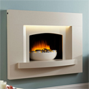 Lumia Sharon Hole in the Wall Electric Suite Modern Designer Fireplace