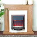 Harrier Traverse Electric Fireplace Suite Low Cost Oak Effect Electric Suite