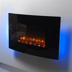 Orial Fires Robina Curved Hang on the Wall Electric Fire