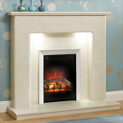 Orial Fires Titanium Marble Fireplace Surround