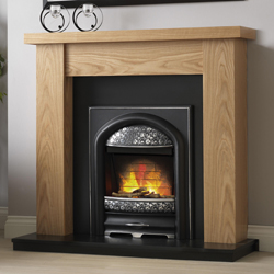 Pureglow Ludlow Oak and Juliet Electric Fireplace Suite