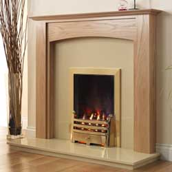 Pureglow Stretton Full Depth Gas Oak Fireplace Suite