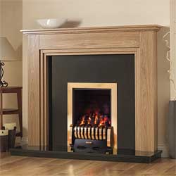 Pureglow Whitton 54 Full Depth Gas Oak Fireplace Suite