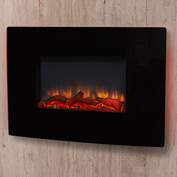 Apex Fires Denver Black Wall Mounted Electric Fire