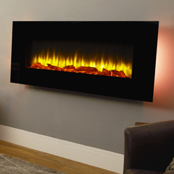 Apex Fires Georgia Black Wall Mounted Electric Fire
