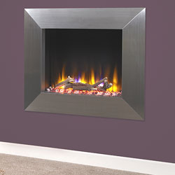 Celsi Ultiflame VR Impulse Silver Hole in Wall Electric Fire
