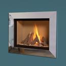 Verine Celena Wall Mounted Gas Fire Silver Trim Cream Interior