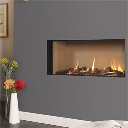 Kinder Eden Elite HE Slimline Trimless Gas Fire