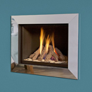 Verine Celena Wall Mounted Gas Fire Silver Trim Black Interior