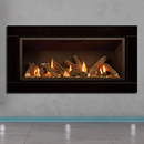 Apex Fires Cirrus X1 HE Black Glass Log Hole in the Wall Gas Fire