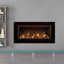Apex Fires Cirrus X1 HE Black Glass Hole in the Wall Gas Fire