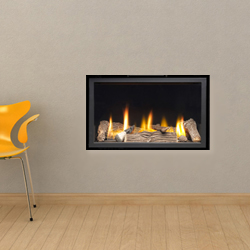 Apex Fires Cirrus X2 HE Trimless Hole in the Wall Gas Fire