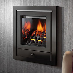 Crystal Fires Royale Glass Fronted Hole in the Wall Gas Fire