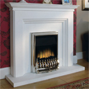 Beaucrest Hickory Electric Fireplace Suite