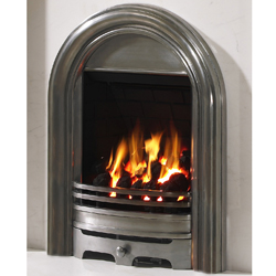 Bemodern abbey polished gas fire lowest price in the uk for Modern gas fireplace price