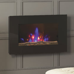 Bemodern Azonto Hang on the Wall Log Electric Fire